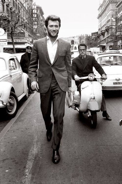 Clint Eastwood, Rome, 60's....Hugh Jackman resemblance