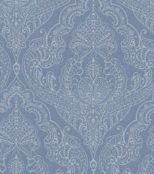 Home Decor 8''x 8'' Fabric Swatch-Upholstery-Waverly Queen's Lace/Blue Jay