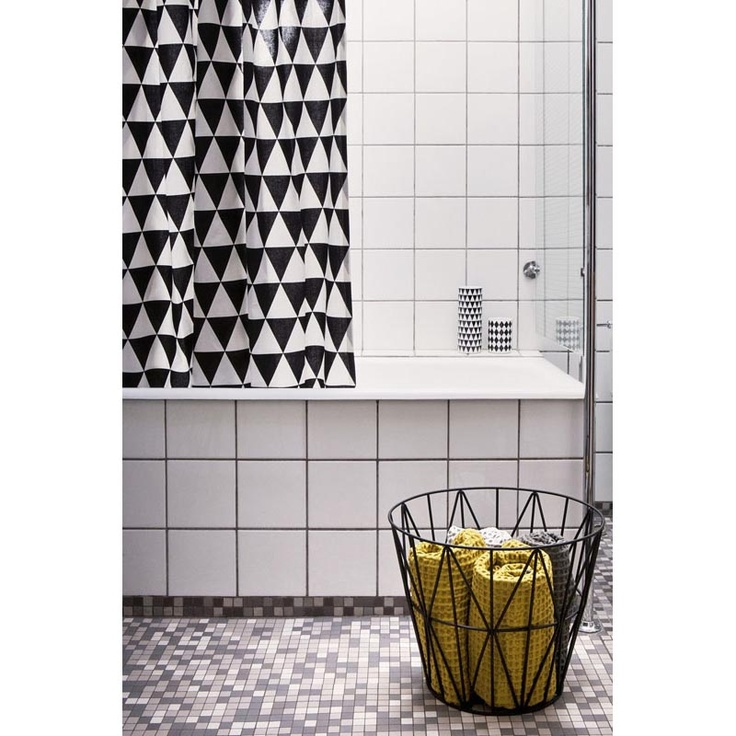 Triangle Shower Curtain with Rings by ferm living