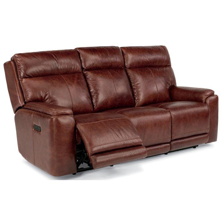 Latitudes-Sienna Power Reclining Sofa with Power Headrest by Flexsteel at Hudson's Furniture