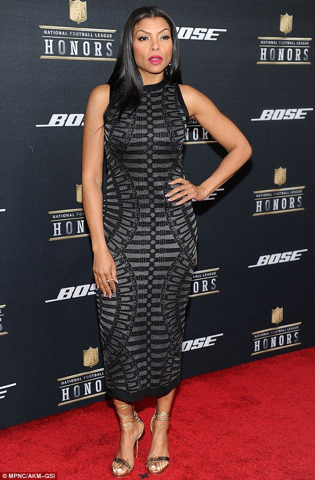 Red carpet time: Taraji P Henson wasn't done with awards shows for the weekend, as she put on a striking display for the NFL Honors Awards on Saturday night