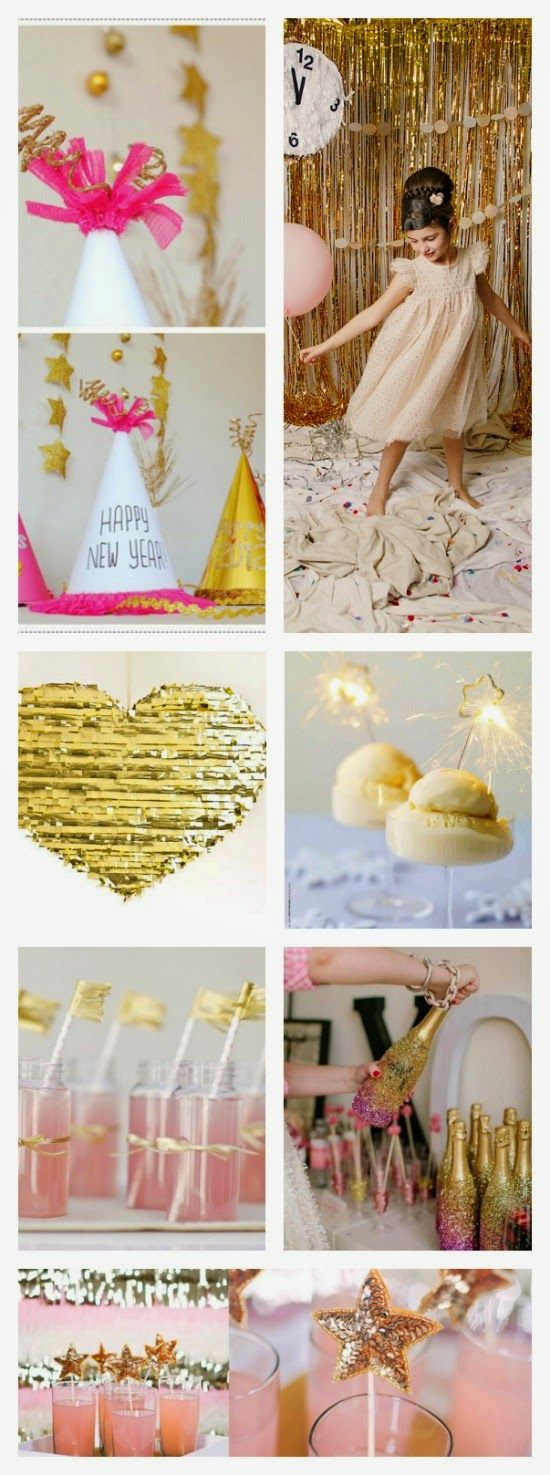 Pink and Gold DIY New Years Eve