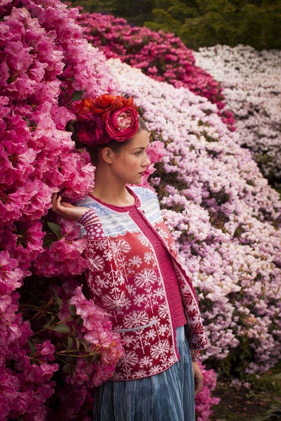 Oleana Norwegian Cardigan Design 199-AV,  Wristlets Design 194-AV, Knit Top Design 138-AV, Oleana Norwegian Sweaters, Blankets, Scarves