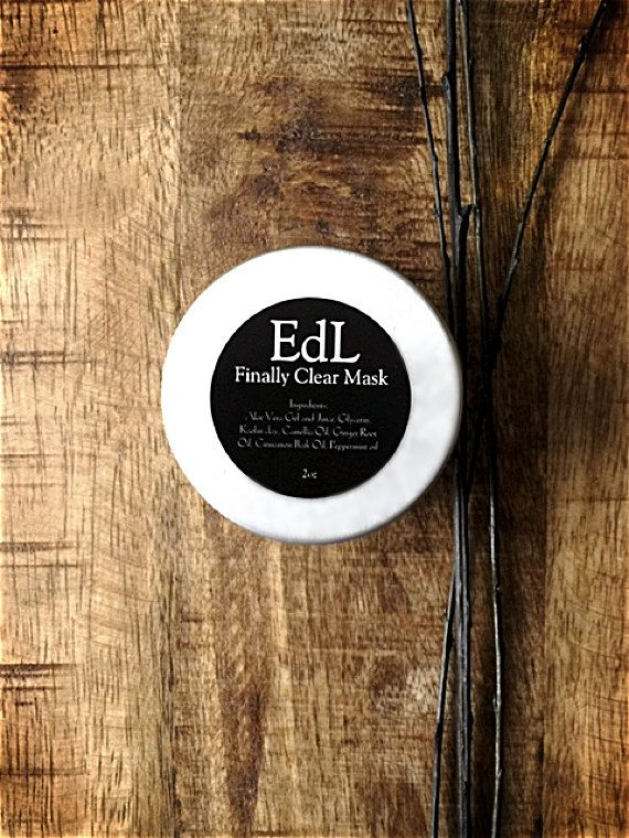 Blackhead mask  EdL Finally Clear Mask  by EraDansLherbe on Etsy