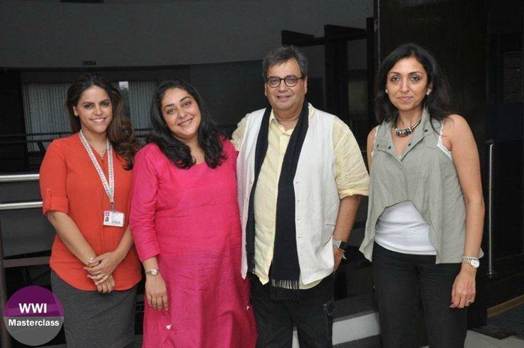 L-R: Meghna Puri, Meghna Gulzar, Subhash Ghai and Priti Shahani