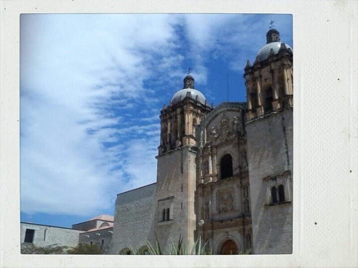 Y las nubes pintan en cielo de blanco en la hermosa Oaxaca