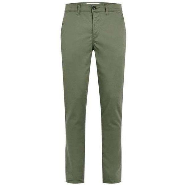 Khaki Stretch Skinny Chinos ($15) ❤ liked on Polyvore featuring pants, bottoms, pantalon, skinny trousers, skinny khaki pants, skinny pants, green chino pants and stretch pants