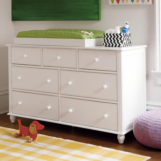 jenny lind wide dresser white nursery changing