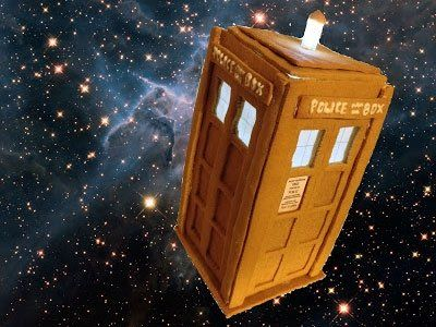 Are you a Timelord fancier and/or a general lover of all things Who? Then how do you feel about whipping up this glorious gingerbread tardis?