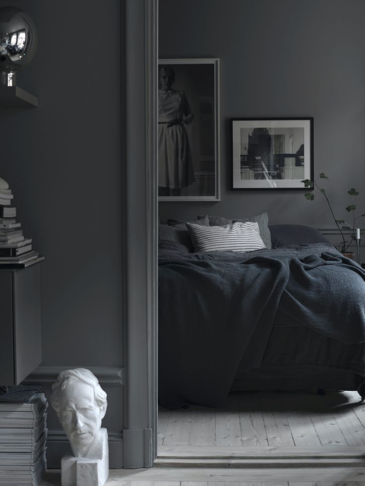 1000 ideas about dark grey bedding on pinterest gray bedding grey throws and grey comforter sets - Dark grey bedroom ...