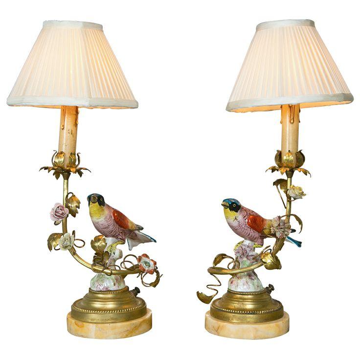 Pair Of Meissen Style Porcelain Table Lamps