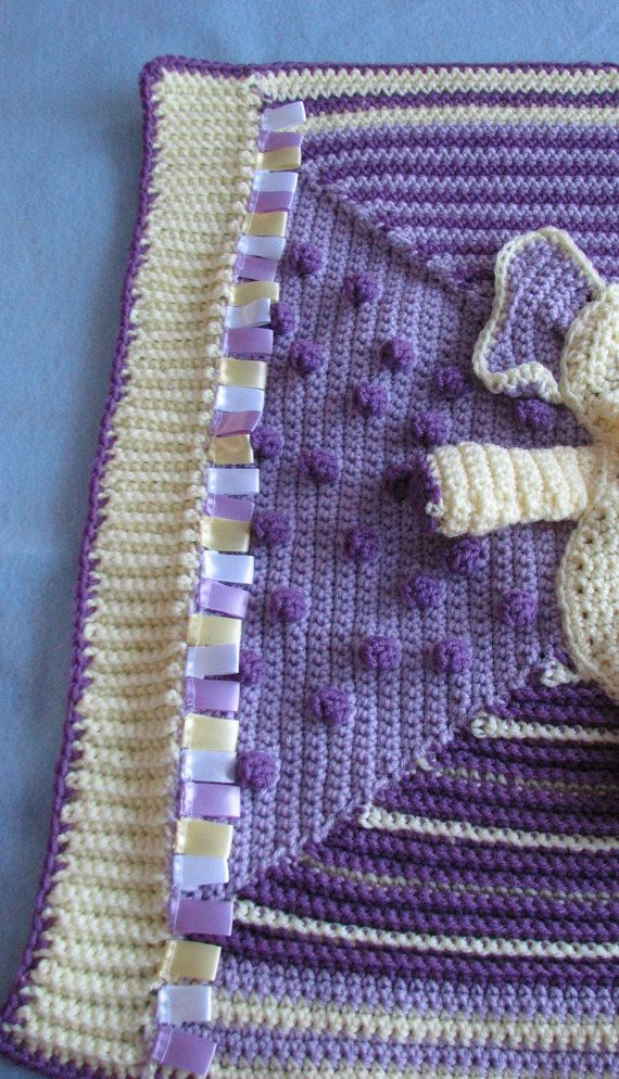 Elephant Activity Blanket For Baby Crochet Pattern with Two Bonus Ele ...