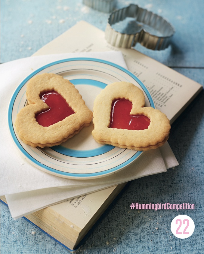 Linzer Cookies. Enter our #HummingbirdCompetition by March 6th, 2013 for a chance to win 1 of 3 free Home Sweet Home cookbooks. Rules and how to enter can be found here: https://www.facebook.com/notes/the-hummingbird-bakery/win-a-copy-of-home-sweet-home/567680519908799