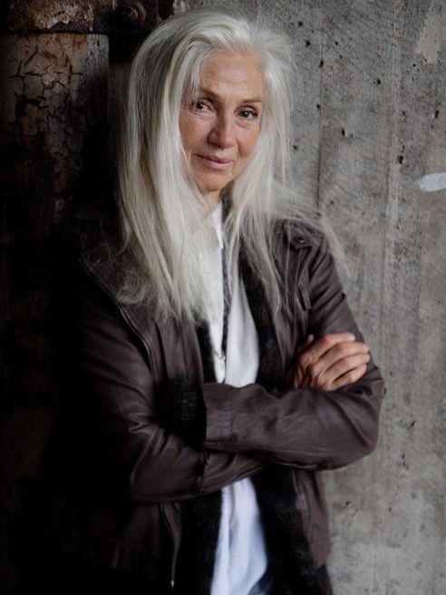 granny mature grey hair