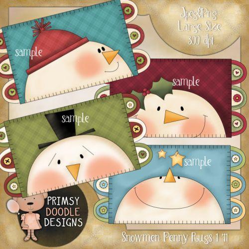 11- Snowmen Penny Rugs 1