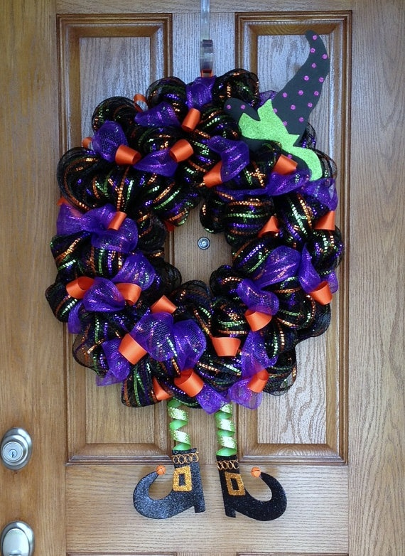 Halloween Witch Wreath by WreathQueen on Etsy