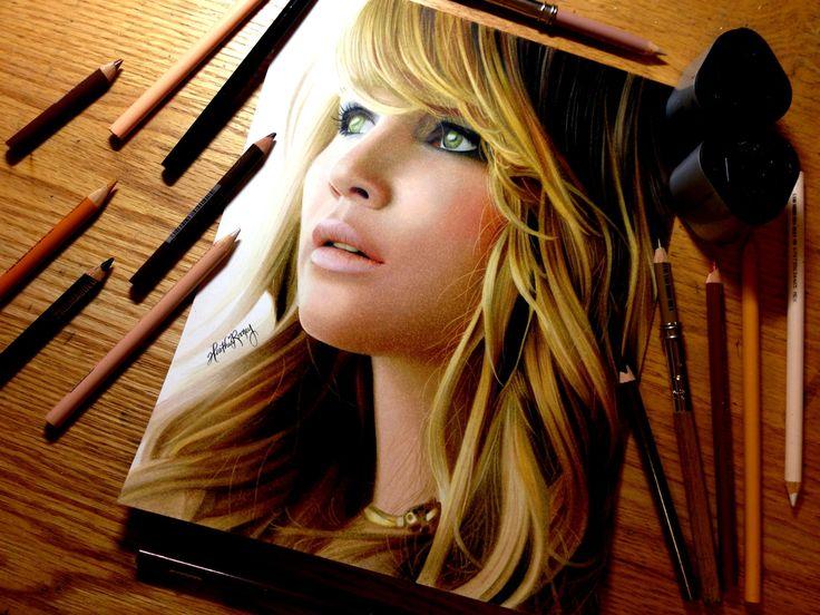 Drawing Jennifer Lawrence Great Artist! http:www/cronenfamily.ws
