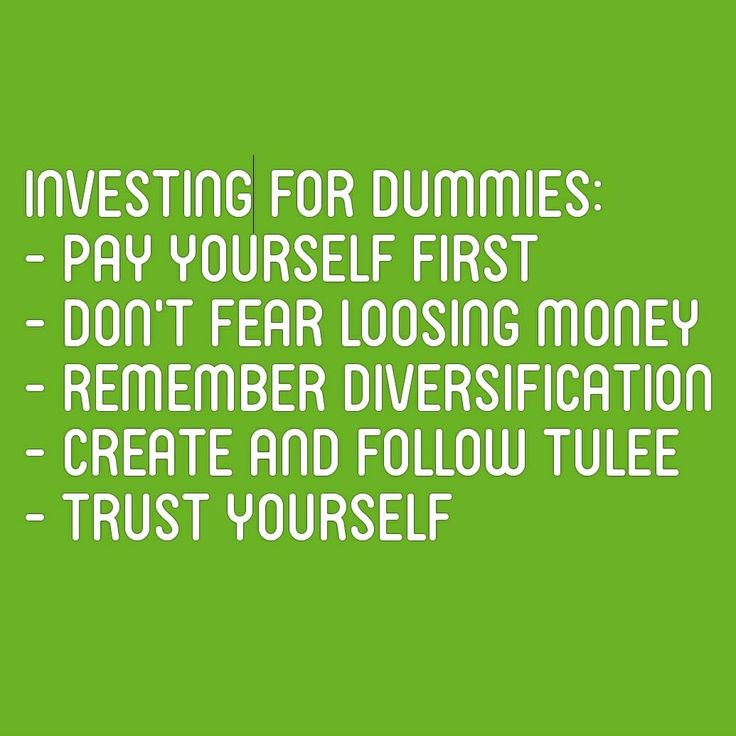 Investing for dummies - top5 investing rules