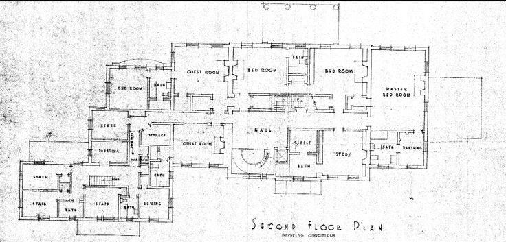 Arbremont original second floor plan now hillwood washington dc floorplans pinterest 2nd for Who designed the basic plan for washington dc