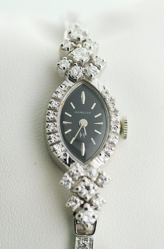 Vintage Hamilton Ladies Diamond Watch by SITFineJewelry on ...