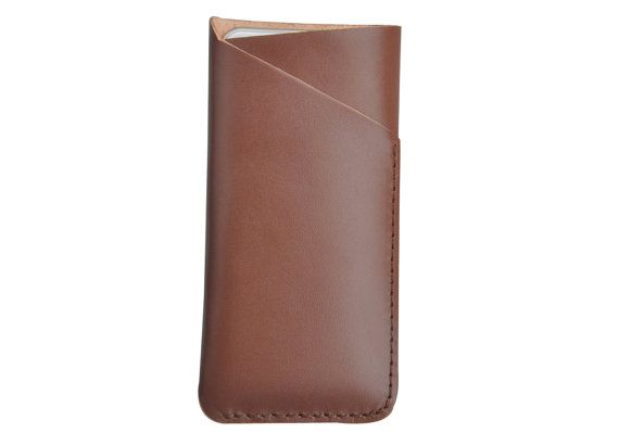 Handmade genuine leather sleeve cover case with card by Onequeen