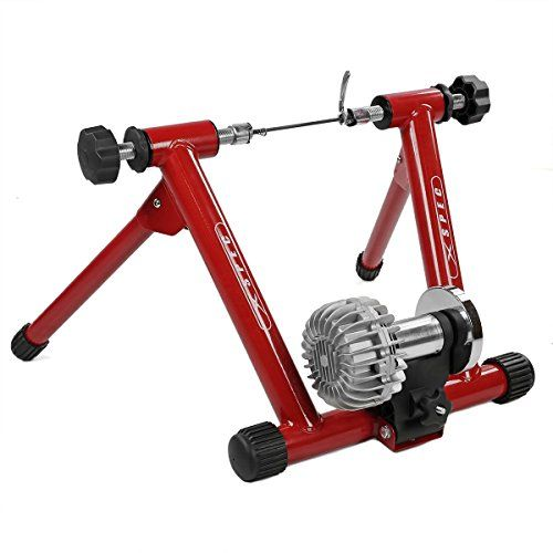 Xspec Red Fluid Exercise Bike Trainer Stand With Fluid Resistance
