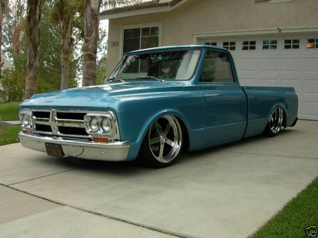67 GMC. I have no board for this one! But this is totally a dream truck of mine.
