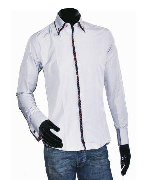 Приталенная серая рубашка Constantine