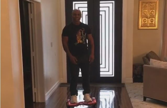 Hoverboard Knocks Out The Mighty Mike Tyson - http://viralvibes.net/hoverboard-knocks-out-the-mighty-mike-tyson