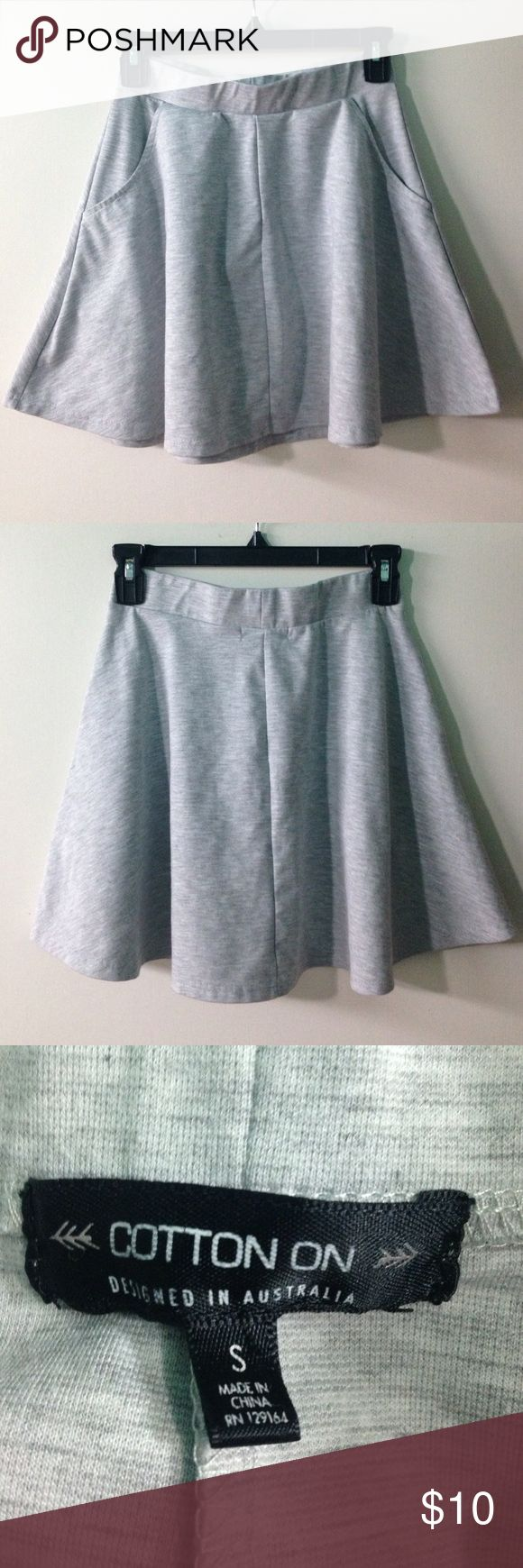 ️Cotton On Jasmine Flippy Skirt Cute skirt from Cotton On! Has two front pockets. NEW, never worn. Grey. Cotton On Skirts Circle & Skater