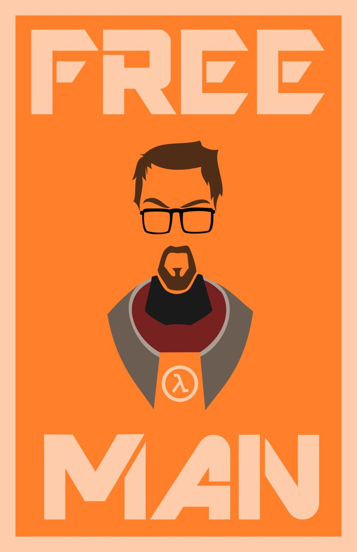 Minimalist Freeman - Half Life by LaggyCreations.deviantart.com