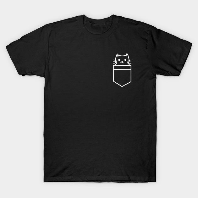 Pocket Cat T-shirt design for all you cat lovers. This is so kawaii. Grab this t-shirt whilst it's on sale.