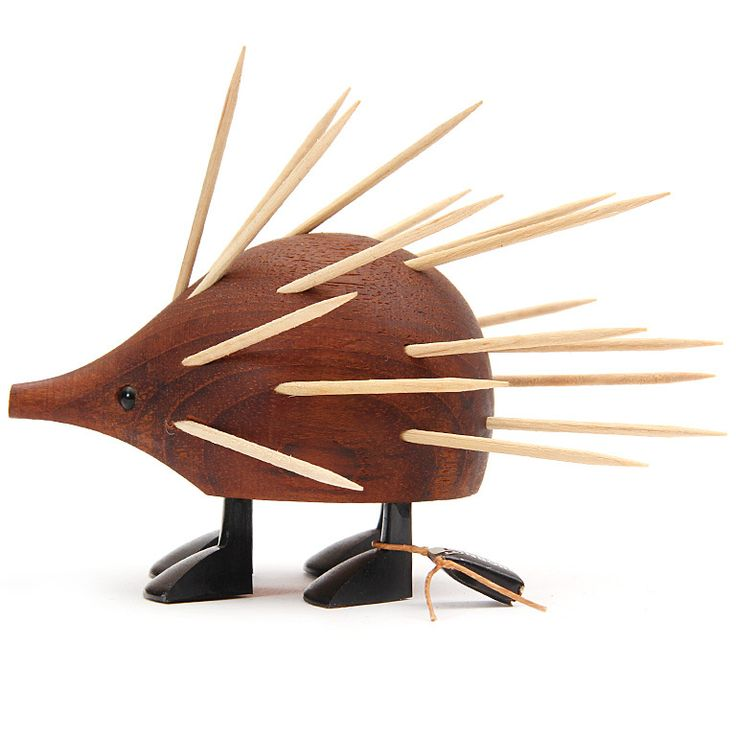 The elusive toothpick-serving teak porcupine, first spotted in Denmark in the 1960's.