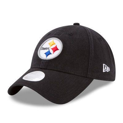 Women's New Era Black Pittsburgh Steelers Primary Preferred Pick 9TWENTY Adjustable Hat