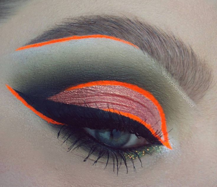 Katina K shows us how a hot neon orange winged liner can be done with class. More here: http://blog.furlesscosmetics.com/katina-k/