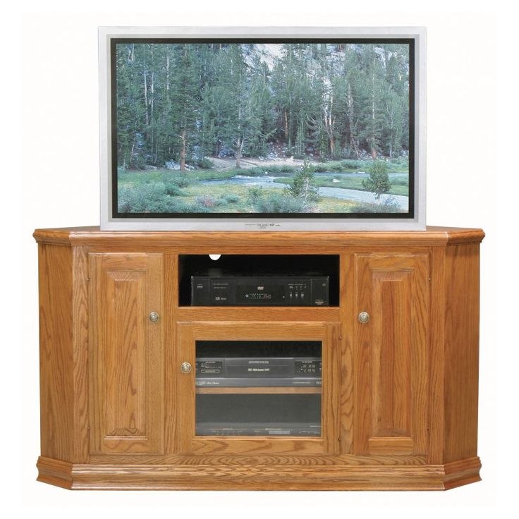 Tall Corner TV Stand   This Eagle Furniture Classic Oak 57 In. Tall Corner TV  Stand Showcases Traditional Style And Quality Oak Craftsmanship.
