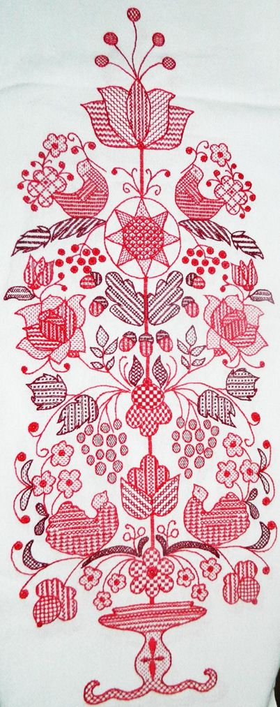 Дерево рода - свадебный рушник - работа Людмилы Квадрициус