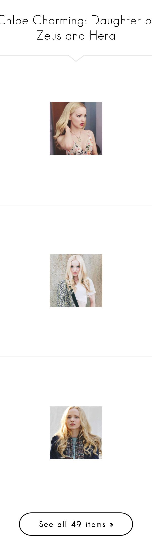 """Chloe Charming: Daughter of Zeus and Hera"" by hpf1102 ❤ liked on Polyvore featuring dove cameron, backgrounds, pictures, faces, image, blue, water, blue pics, pics and witch"