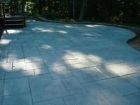 Shadow Slate Pattern with French Grey Release. Matte Sealer. Lewisville, NC