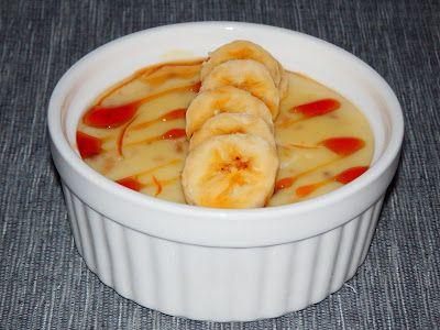 MAKE-FOOD: Vanilkový puding s banánem a sirupem