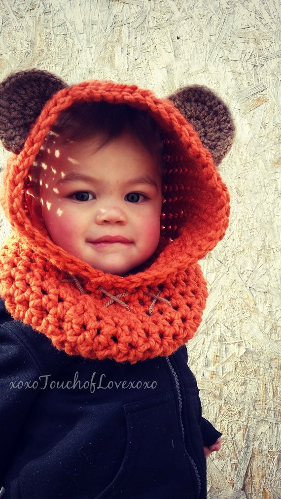 Ewok Inspired Hood Star Wars Cowl By Xoxotouchoflovexoxo On Etsy