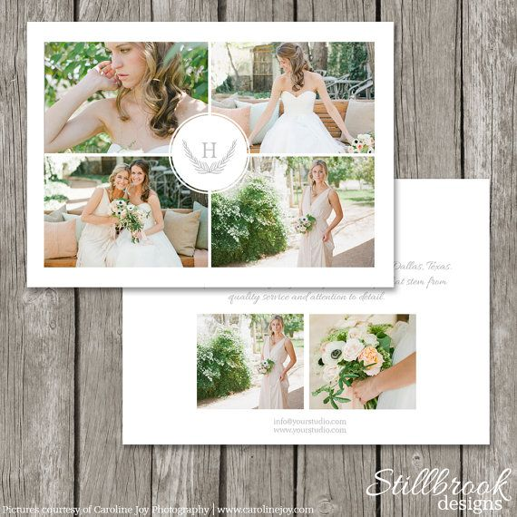 Photography Marketing Template Flyer - Wedding Photography Photo Postcard Card - Advertising Board with Logo for Photographers