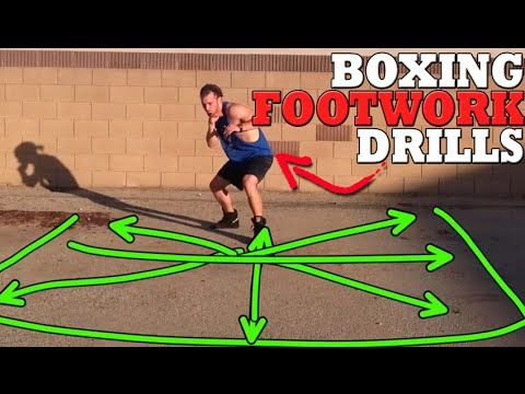 Boxing Footwork Drills: Improve Balance + Control Spatial Positioning - YouTube