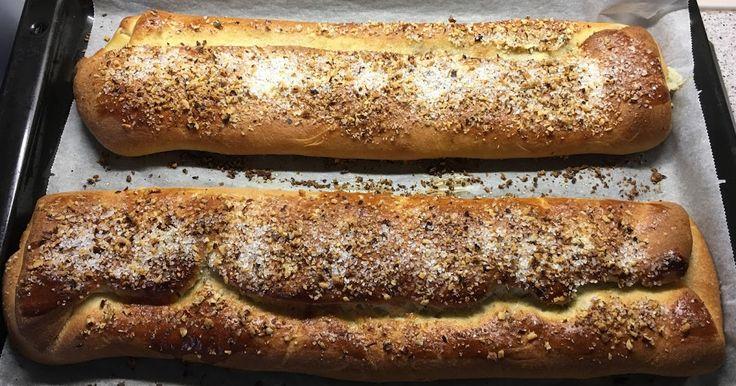 Janes kringle - Uffe Sjøgren har venligt stillet opskriften til rådighed.    Ingredienser til dejen - 2 stk:   300 g mel  200 g smør...