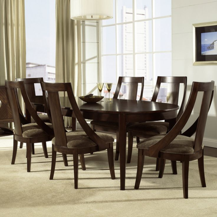 Cirque Oval Dining Table  Chairs by Somerton