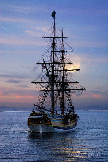 Ship, Moon, Sea...nothing better.