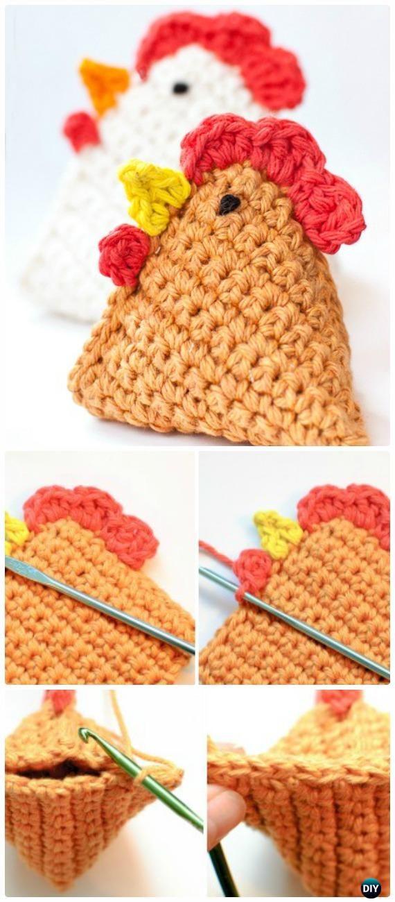 Ganchillo pollo Bean Bag Patrón libre - Patrones de ganchillo pollo gratis