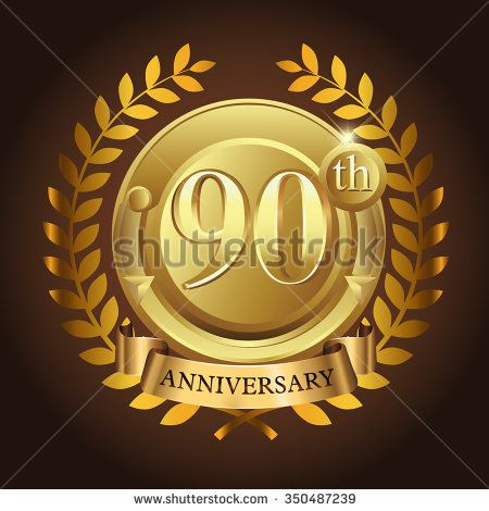 90th golden anniversary wreath ribbon logo - stock vector #wreath #years #business #vector #sign #wheat #celebration #element #black #imperial #design #birthday #wedding #golden, #vintage #background #royal #year #advertisement #ceremony #medal #corporate #anniversary #success #template #luxury #event #emblem #modern #icon #certificate #age #gold #ad #badge #congratulation #classic #five #celebrating #laurel #happy #ribbon #5 #100th #10th #50th #90th #80th #70th