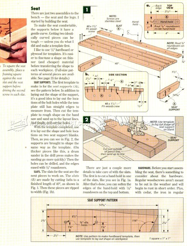 Portable Folding Bench Plans - Outdoor Furniture Plans