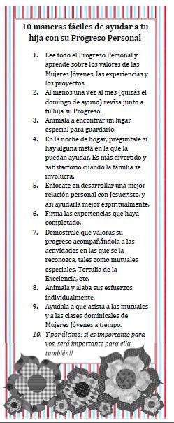 """SEÑALADORES """"10 MANERAS FÁCILES DE AYUDAR A TU HIJA CON EL PROGRESO PERSONAL"""""""